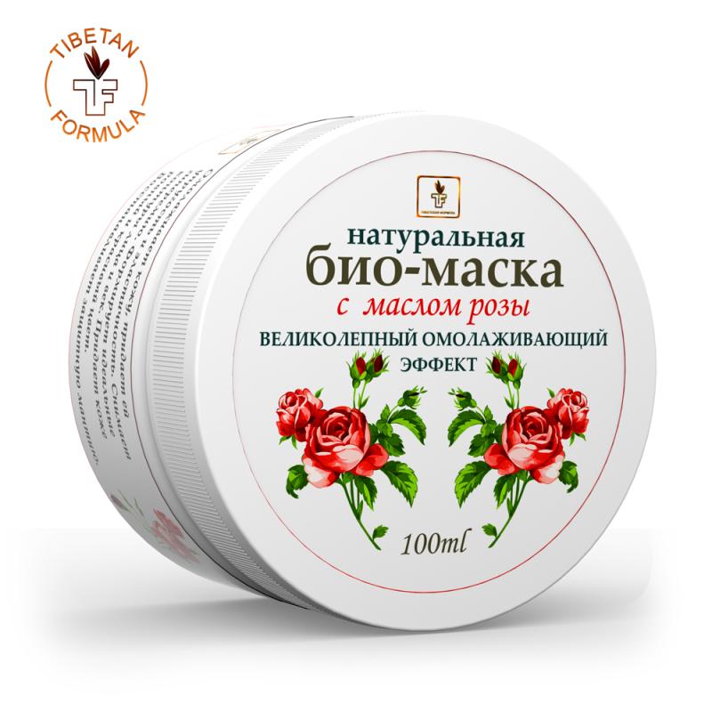 натуральная био-маска с маслом розы